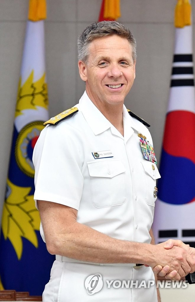 This photo, provided by South Korea's Ministry of National Defense, shows Adm. Philip Davidson, chief of U.S. Indo-Pacific Command. (Yonhap)