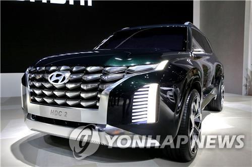 This file photo shows the concept of Hyundai Motor's Palisade flagship SUV. (Yonhap)