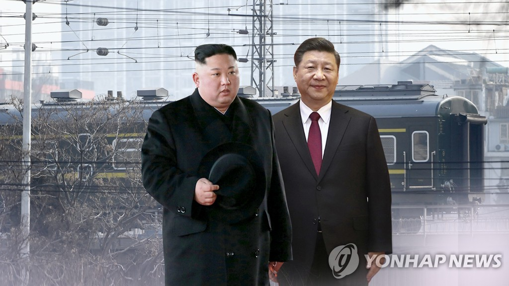 North Korean leader Kim Jong-un (L) and Chinese President Xi Jinping (Yonhap)