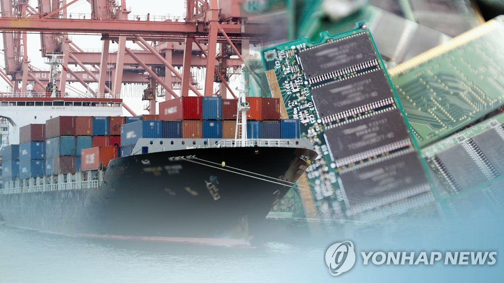 (2nd LD) Korea's exports down for 12th month amid trade rows, chip prices - 1