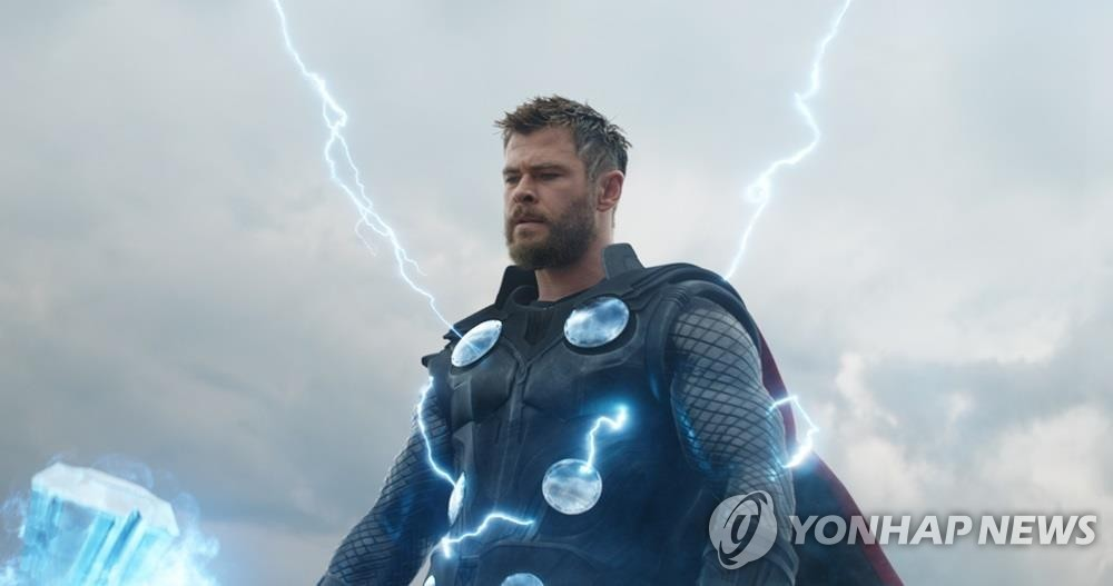 "This photo provided by Walt Disney Company Korea shows a scene from ""Avengers: Endgame."" (Yonhap)"