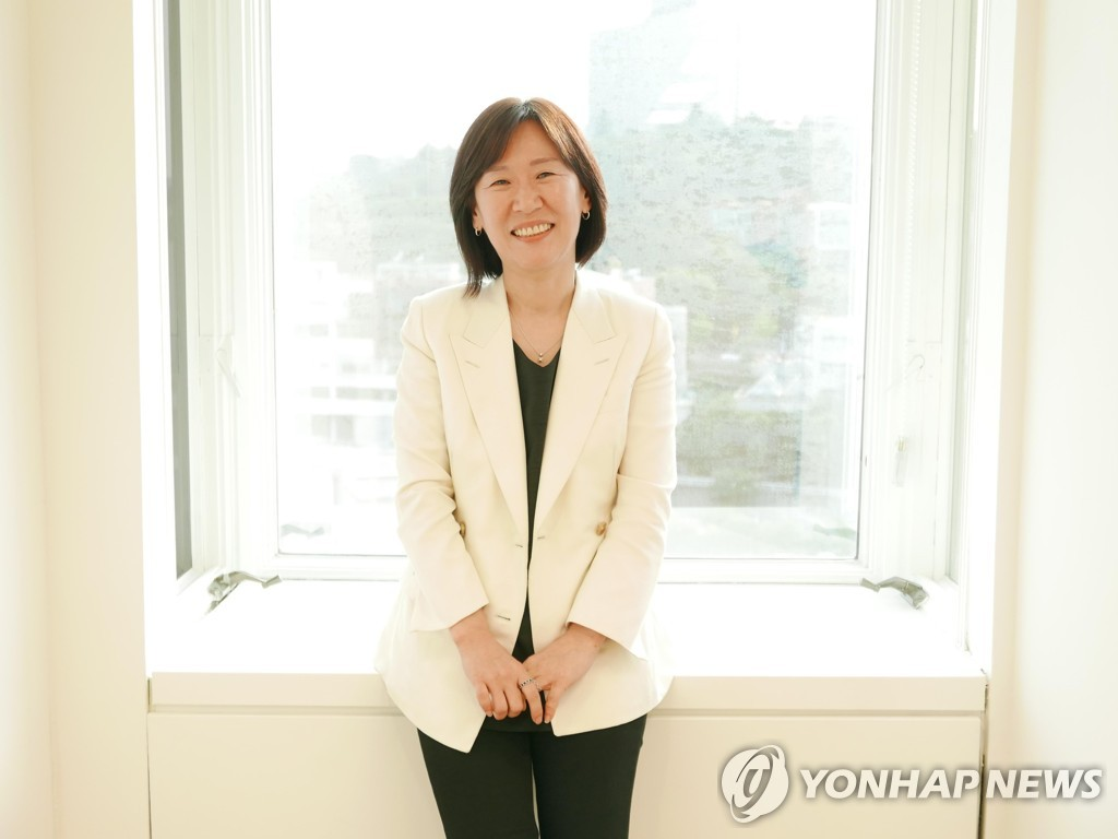 This image of Kwak Shin-ae, the CEO of Barunson E&A, was provided by CJ ENM. (PHOTO NOT FOR SALE) (Yonhap)