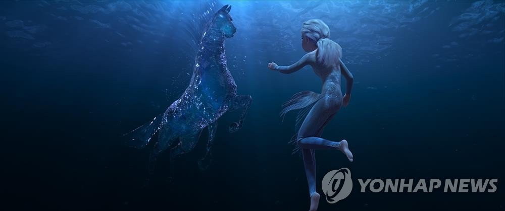 "This image provided by the Walt Disney Company Korea shows a scene from ""Frozen 2."" (PHOTO NOT FOR SALE) (Yonhap)"