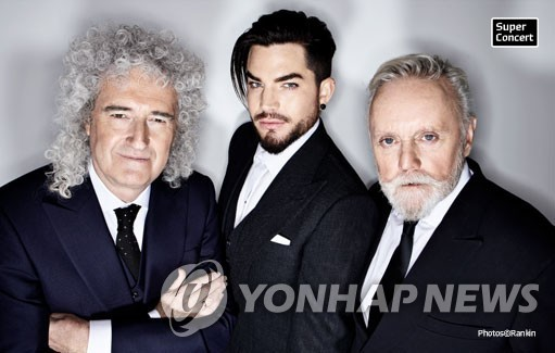 Members of British rock band Queen by Hyundai Card Co. (PHOTO NOT FOR SALE) (Yonhap)