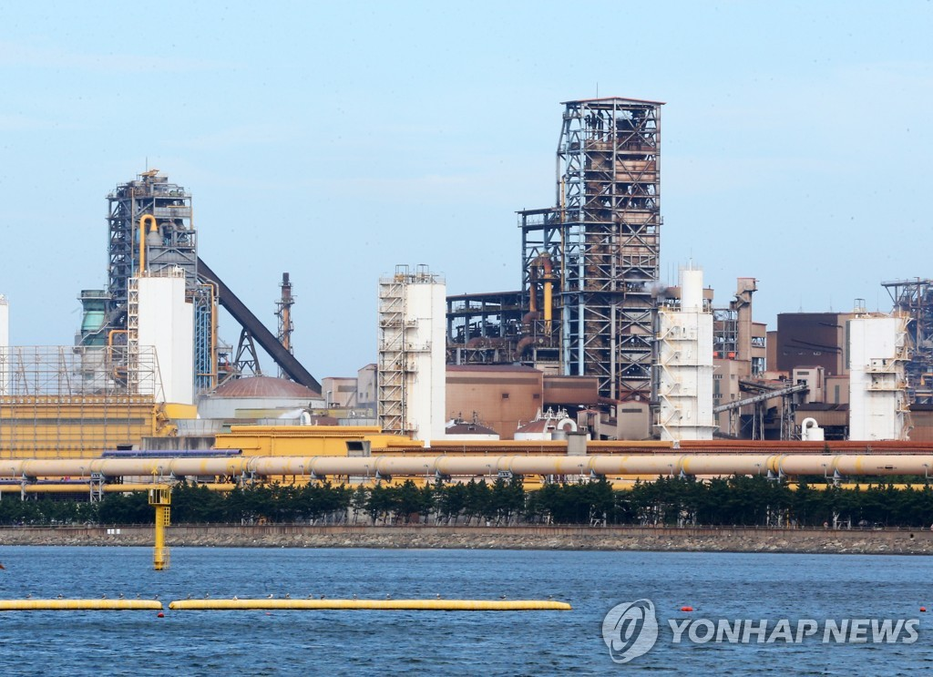This file photo taken Aug. 27, 2020, shows South Korean steelmaker POSCO's factory in Pohang, 374 kilometers southeast of Seoul. (Yonhap)