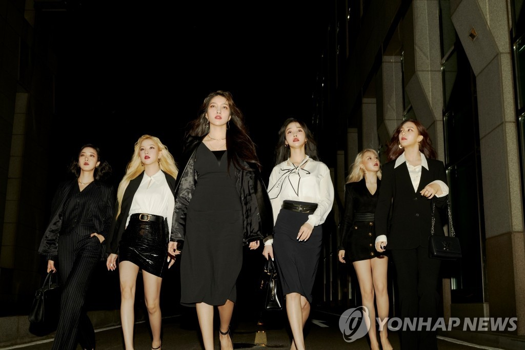 This photo, provided by Source Music, shows K-pop act GFriend. (PHOTO NOT FOR SALE) (Yonhap)