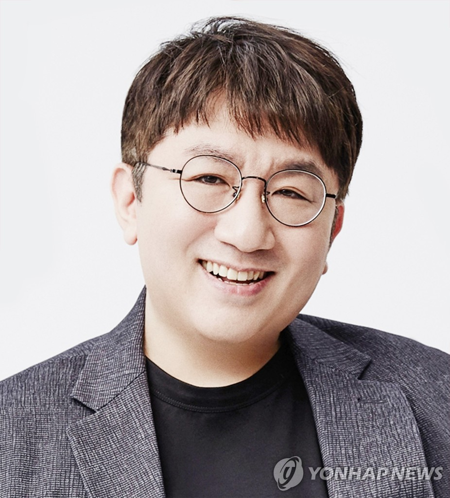 This photo, provided by Big Hit Entertainment on Dec. 29, 2020, shows the agency's CEO Bang Si-hyuk, who created BTS. Bang was put on the Variety500, a list of the top 500 entertainment business leaders, for this year by U.S. media company Variety. (PHOTO NOT FOR SALE) (Yonhap)