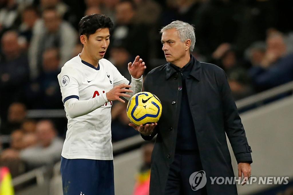 손흥민과 조제 모리뉴 토트넘 감독