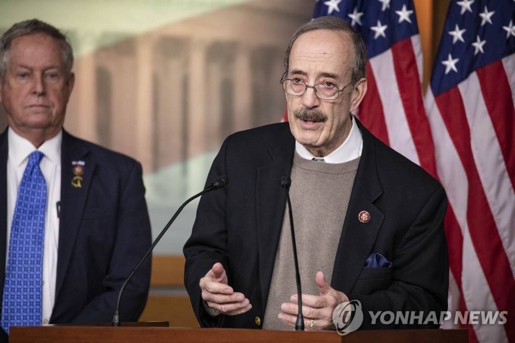 This AFP file photo shows Rep. Eliot Engel (D-NY). (Yonhap)