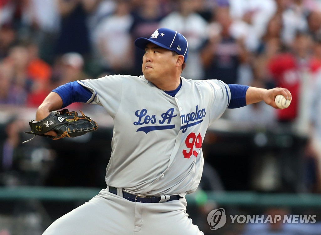 (LEAD) Ryu Hyun-jin tosses 1 scoreless inning in All-Star Game start