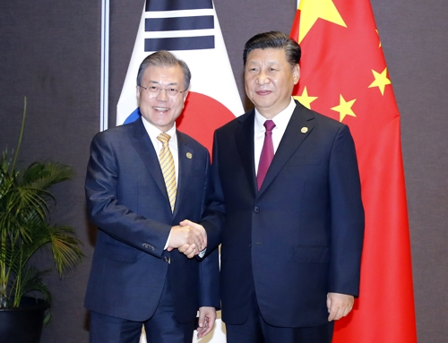 Moon, Xi agree to closely cooperate for successful 2nd U.S.-N.K. summit