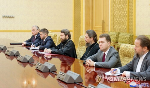 Delegation of Russian Orthodox Church visits P'yang