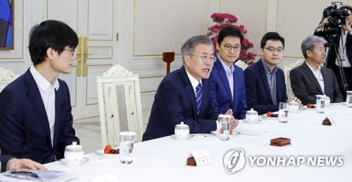 (LEAD) President Moon emphasizes need for more startup businesses