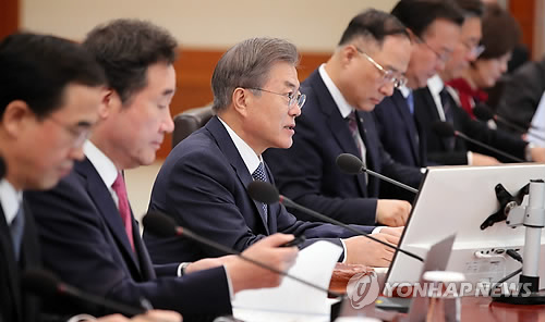 Moon says economy still needs a push despite some improvements
