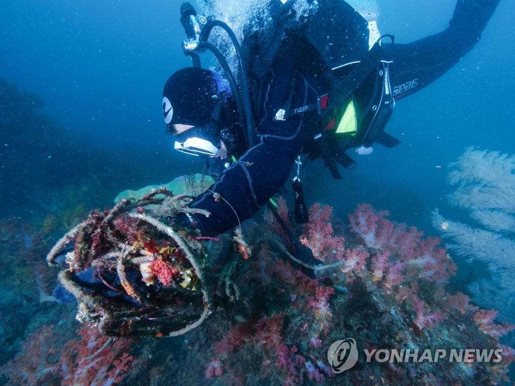 제주 바닷속 쓰레기