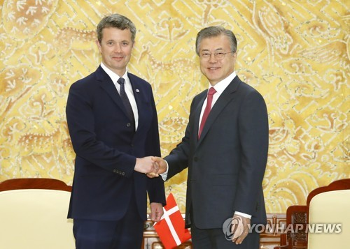 Danish crown prince visits S. Korea