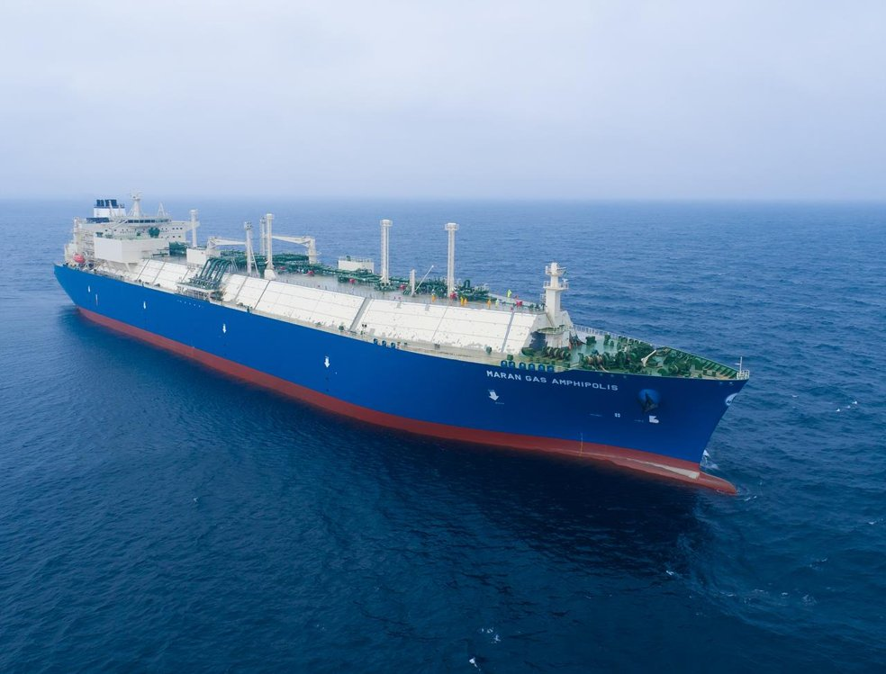 This photo provided by Daewoo Shipbuilding & Marine Engineering Co., shows an LNG carrier built by the company. (PHOTO NOT FOR SALE) (Yonhap)