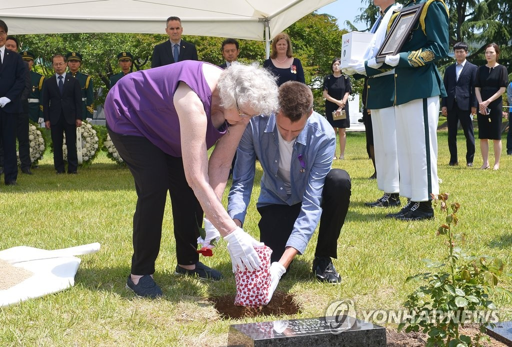 Canadian veteran buried in S. Korea
