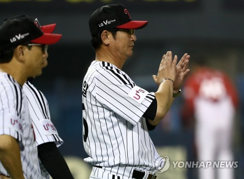 LG Twins manager applauds players