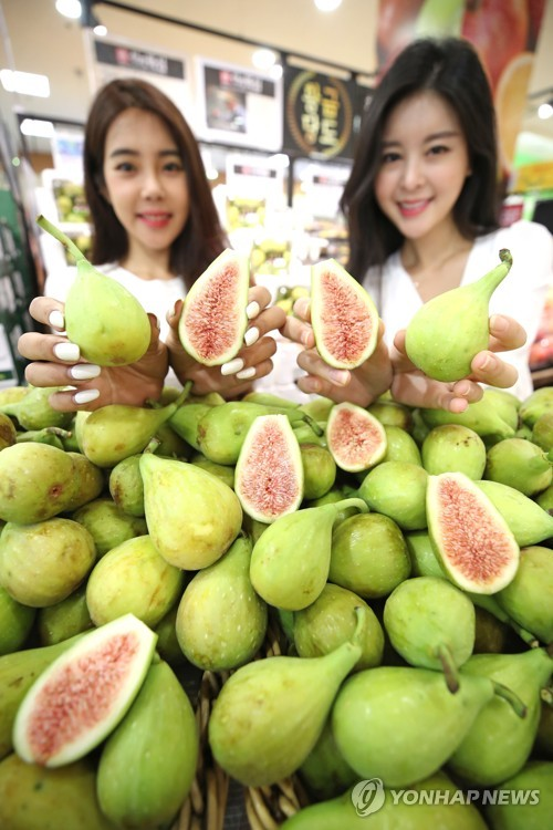 Promotion of figs at discount store