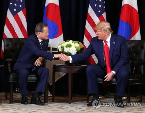 (3rd LD) Trump requests S. Korea's medical device support to fight COVID-19 in phone summit with Moon