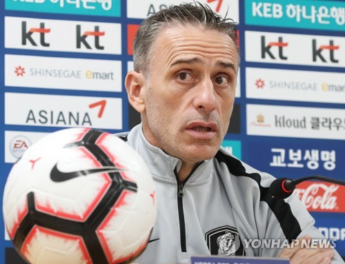 S. Korea football coach warns against hype of big win vs. Sri Lanka
