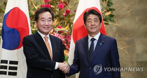 (4th LD) PM Lee expects Seoul-Tokyo dialogue to pick up pace after talks with Abe