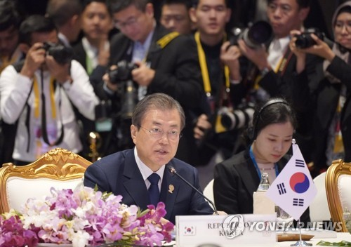 (4th LD) Moon requests ASEAN's support for Korea peace process in Bangkok summit