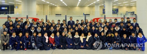 Korean student art troupe in Pyongyang