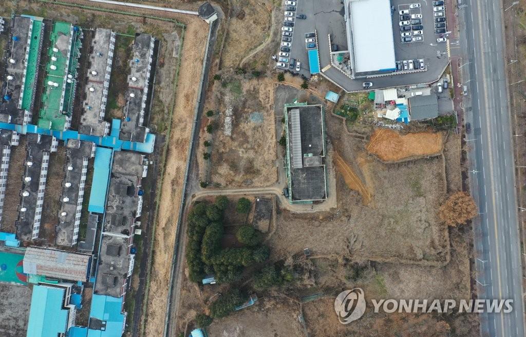 遺骨が発見された旧光州刑務所の敷地=20日、光州(聯合ニュース)