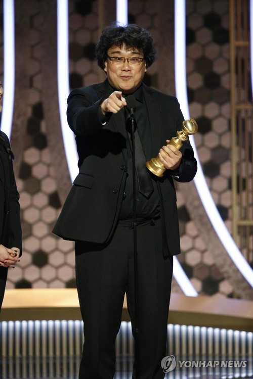 (6th LD) 'Parasite' wins best foreign film at Golden Globes
