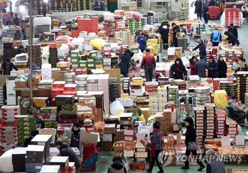 Agricultural market ahead of holiday