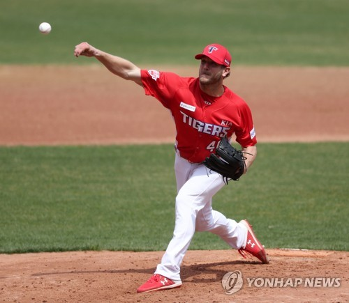 (Yonhap Interview) New KBO pitcher Drew Gagnon trying to keep it simple in uncertain spring