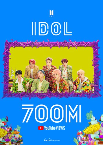 BTS' 'Idol' MV tops 700 mln YouTube views