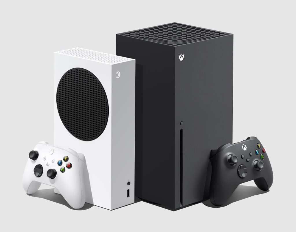 Microsoft Corp.'s Xbox Series S (L) and the higher-spec'd Series X (R) are shown in this undated photo provided by the company. (PHOTO NOT FOR SALE) (Yonhap)