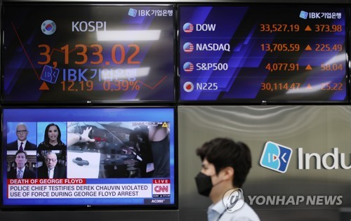 (LEAD) Foreign investors swoop up S. Korean stocks in April