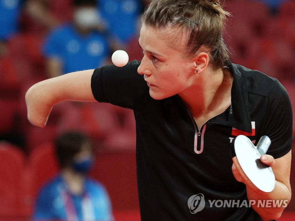 [올림픽] 외팔선수 파르티카 서브