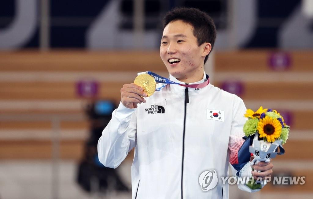 [올림픽] '자랑스러운 금메달 목에 걸고'