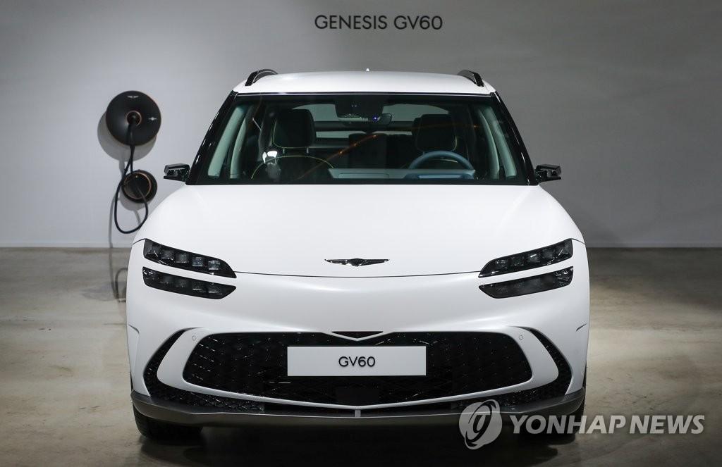 제네시스 첫 전용 전기차 GV60 실물 공개